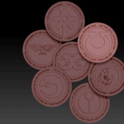 Preview1.png Download free STL file Assembled Indomitus Celebration Coin and... Pack 1 • 3D printable object, virusesofdeath