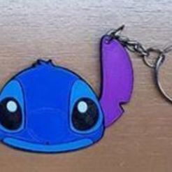Download free 3D printer templates Stitch Keychain, 3drovettas