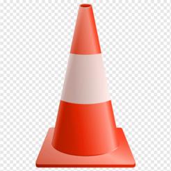 Cono (Naranja-Blanco95-Naranja185).png Télécharger fichier STL Porte-clés en forme de cône • Design à imprimer en 3D, 3drovettas