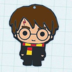 Harry Potter.JPG Download free STL file Harry Potter Multicolor Keychain • 3D print template, 3drovettas