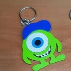Download free 3D printer model Wazowski keychain (Monster Inc.), 3drovettas