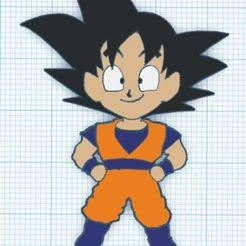 Descargar archivos 3D Llavero Goku, 3drovettas