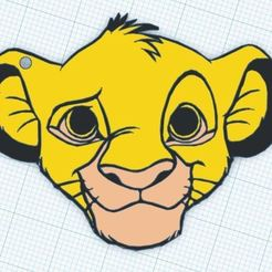 Download free 3D printing models Simba (Lion King) Keychain, 3drovettas