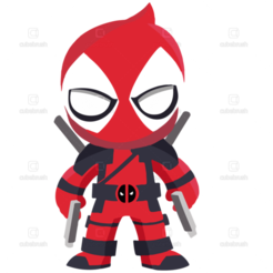 kindpng_1058818.png Download STL file Deadpool Keychain • 3D printing template, 3drovettas