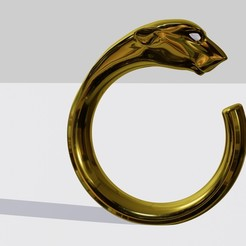 01.jpg Download free STL file Panther ring • 3D printer design, VNIB