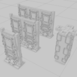 Download free 3D printer files Tabletop Interlocking SciFi Walls and Corners, ghostbear65