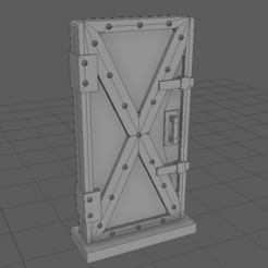 Download free 3D model Metal Bunker Door, ghostbear65