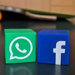 Descargar archivos STL gratis Icono de la aplicación Whats/Facebook, maxsiebenschlaefer13