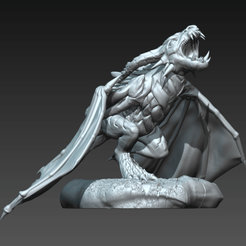 Whelp2a.png Download free STL file Wyvern Whelp Pose B • 3D printing template, guardiansdestiny2019