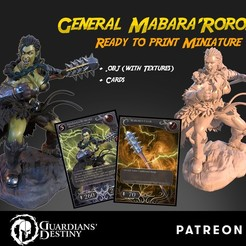 Mabara cubebrush.jpg Download STL file Ogre General Mabara'Roroki • 3D printing template, guardiansdestiny2019