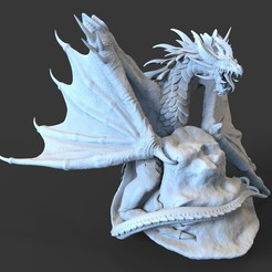 Frost_Wyvern.12.jpg Download STL file Wyvern - Miniature Only • 3D printing template, guardiansdestiny2019