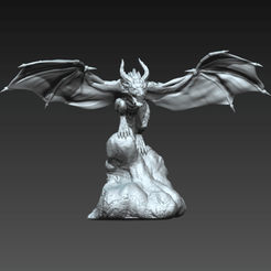 Whelp4b.png Download STL file Wyvern Whelp Pose D • Template to 3D print, guardiansdestiny2019