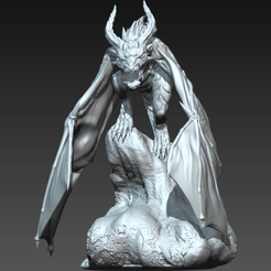 Whelp3a.png Download STL file Wyvern Whelp Pose C • 3D printable template, guardiansdestiny2019