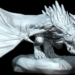 Whelp1b.png Download STL file Wyvern Whelp Pose A • 3D printer template, guardiansdestiny2019