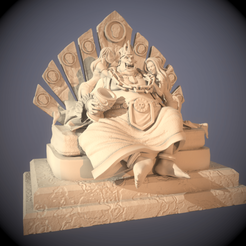 TovumHanNC (1).png Download STL file Ogre King Tovum'Han - Miniature Only • 3D printing template, guardiansdestiny2019