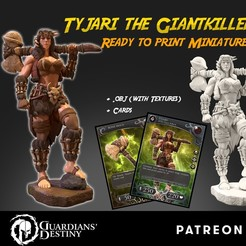 Download 3D printing models Tyjari the GiantKiller, guardiansdestiny2019