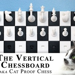 04.jpg Download free STL file Vertical Chessboard, aka The Cat Proof Chessboard • Template to 3D print, SSilver