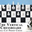 Download free 3D model Vertical Chessboard, aka The Cat Proof Chessboard, SSilver