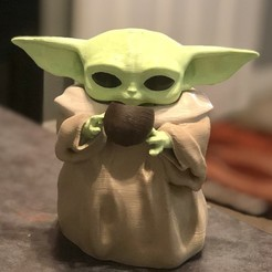 Download free 3D printing designs Baby yoda cup, iamwoow