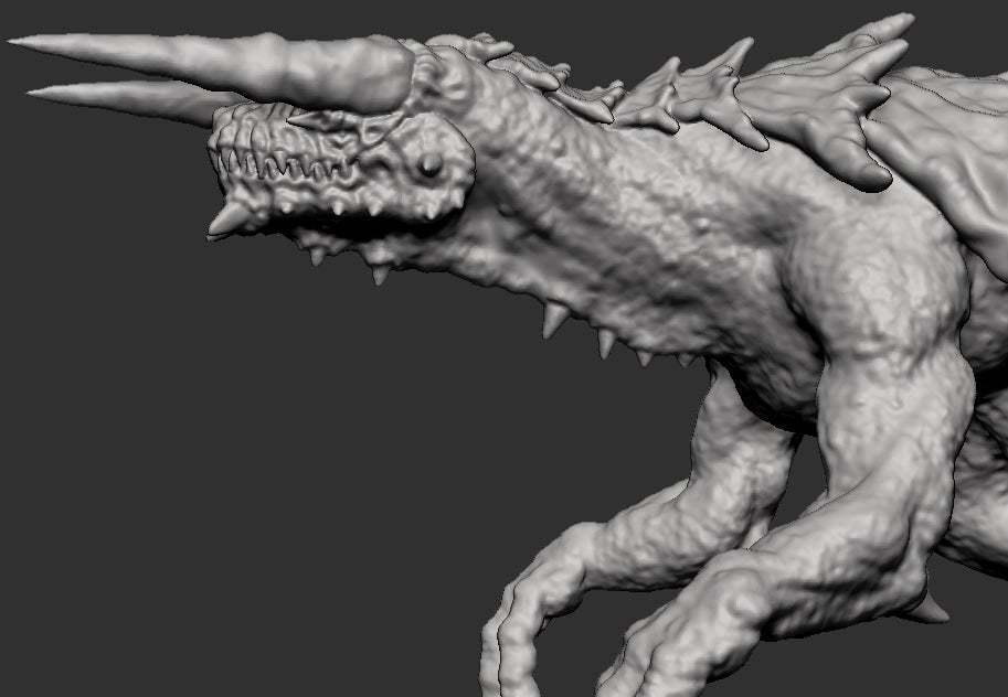 tarhead.jpg Télécharger fichier OBJ gratuit Tarrasque • Plan pour impression 3D, kphillsculpting