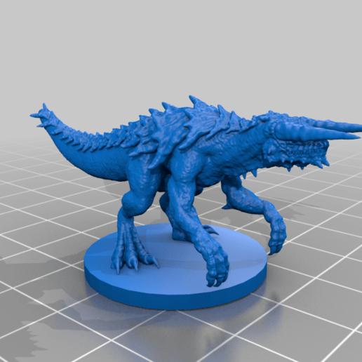 tarrasque.png Télécharger fichier OBJ gratuit Tarrasque • Plan pour impression 3D, kphillsculpting