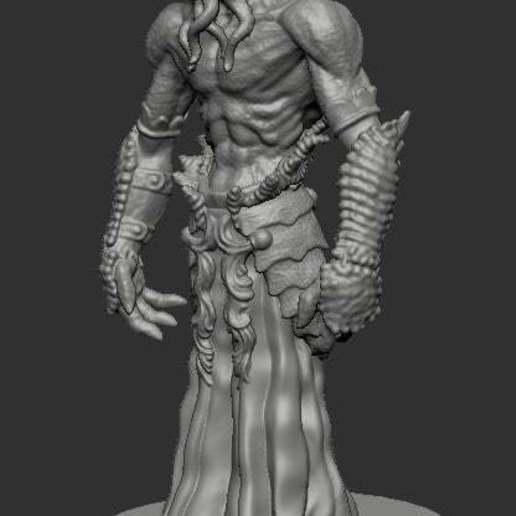 mindflayer45.jpg Télécharger fichier STL gratuit Le tueur d'esprit • Plan pour impression 3D, kphillsculpting