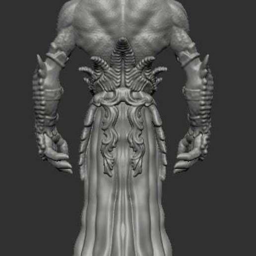 mindflayerback.jpg Télécharger fichier STL gratuit Le tueur d'esprit • Plan pour impression 3D, kphillsculpting