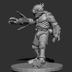 Download free 3D printer files 4 Eye Monster- Android Alien, kphillsculpting