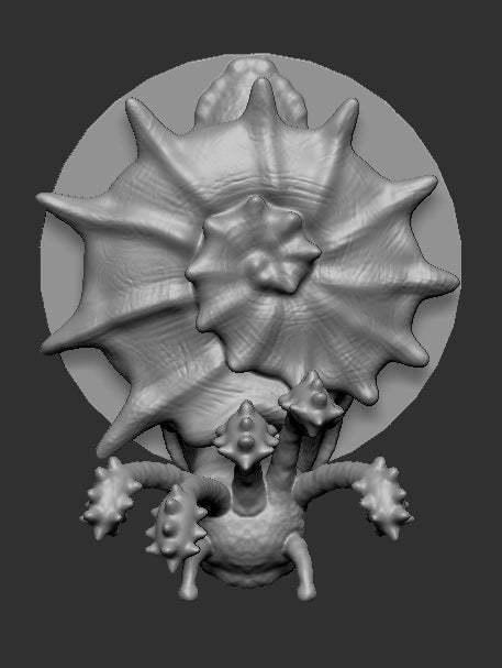 flail_snail_top.jpg Download free STL file flail snail • 3D printing design, kphillsculpting