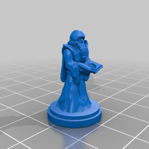 Download free OBJ file Dice Holding Mage • Model to 3D print, kphillsculpting