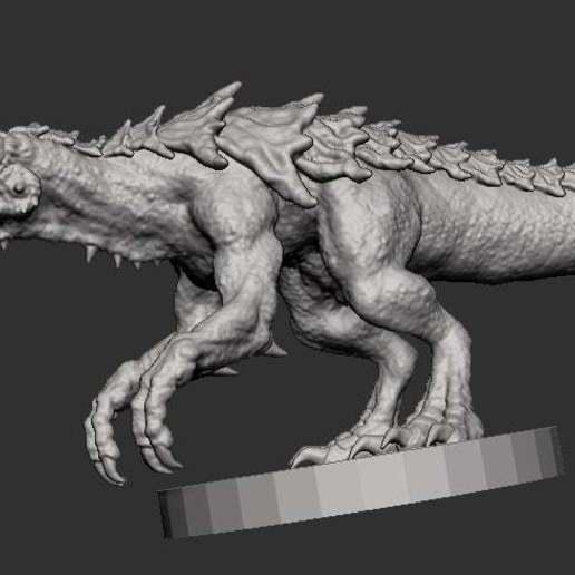 ZBrush_Document.jpg Télécharger fichier OBJ gratuit Tarrasque • Plan pour impression 3D, kphillsculpting