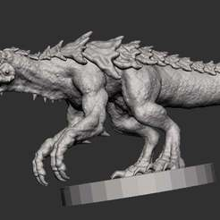 Download free OBJ file Tarrasque • 3D printing template, kphillsculpting