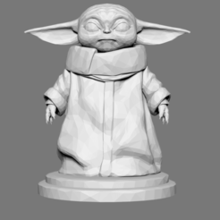 Download STL file Baby Yoda Low Poly - The Mandalorian - Star Wars, jlcasin