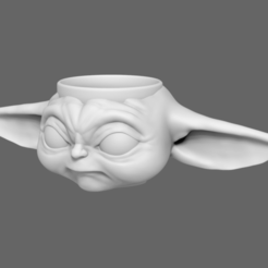 Download 3D print files BabyYoda Cup Star Wars, jlcasin