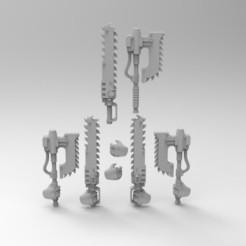 MELEE.jpg Download free STL file MELEE WEAPONS SET 1 • 3D printing model, KrackendoorStudios