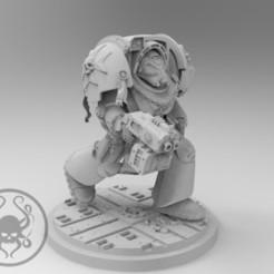 Download free 3D print files Black Templars Terminator, KrackendoorStudios