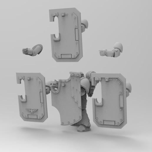 BOARDING 2.jpg Download free STL file Boarding Shields • Template to 3D print, KrackendoorStudios