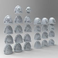 untitled.33.jpg Download free STL file Space Wolves Shoulder Pads • 3D printable object, KrackendoorStudios