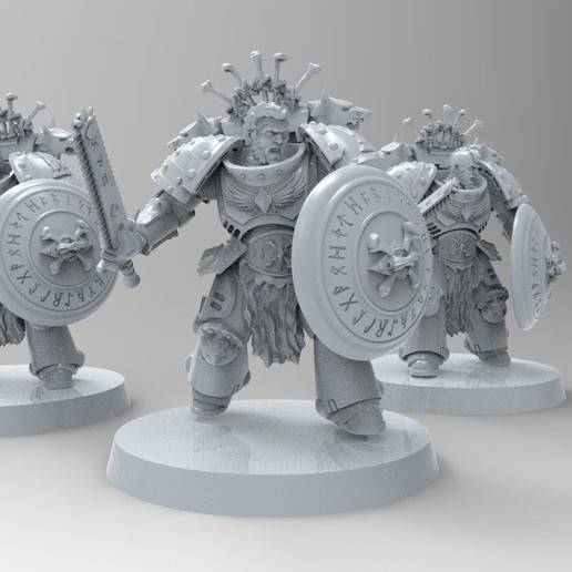 3BF4240C-D38D-4D6F-932D-72CD725A0A53.jpeg Download free STL file Space Wolves Bladeguards  • 3D printer design, KrackendoorStudios