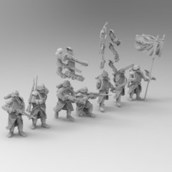 Download free 3D printer model 28mm Trench Fighters Set 2, KrackendoorStudios