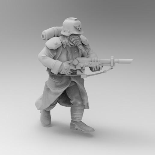 Impresiones 3D gratis Caza de trinchera de 28mm, KrackendoorStudios