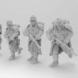Download free STL file 28mm Trench Fighters Poses 1-5 • 3D printer model, KrackendoorStudios