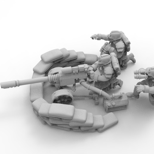 Download Free 3D Printing Designs 28mm Trench Fighters