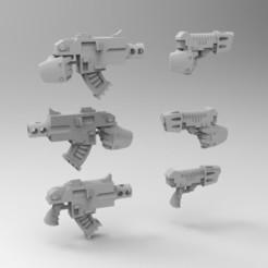 PISTOLS1.jpg Download free STL file PISTOLS SET 1 • 3D printing design, KrackendoorStudios