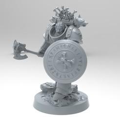 untitled.1691.jpg Download free STL file Space Wolves Bladeguard A • 3D printer object, KrackendoorStudios