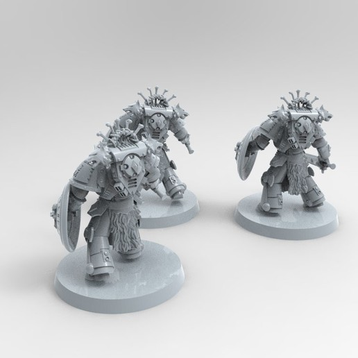 914684D6-696C-47C1-B886-1D1135EC22B0.jpeg Download free STL file Space Wolves Bladeguards  • 3D printer design, KrackendoorStudios
