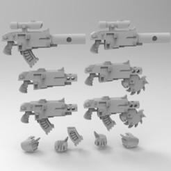 PHOBOS.jpg Download free STL file Phobos Bolters • 3D printing model, KrackendoorStudios