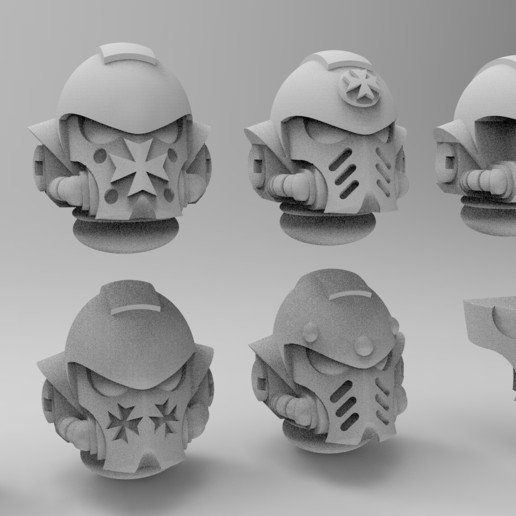 5 blank.jpg Download free STL file Black Templars Primaris Helmet • Object to 3D print, KrackendoorStudios