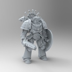 untitled.34.jpg Download free STL file Poseable Primaris Bladeguards Space Wolves • 3D printable design, KrackendoorStudios