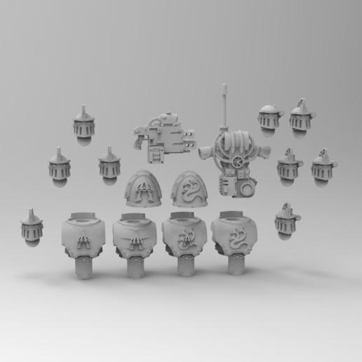Descargar Modelos 3D para imprimir gratis Mejoras en la Legión Alfa, KrackendoorStudios